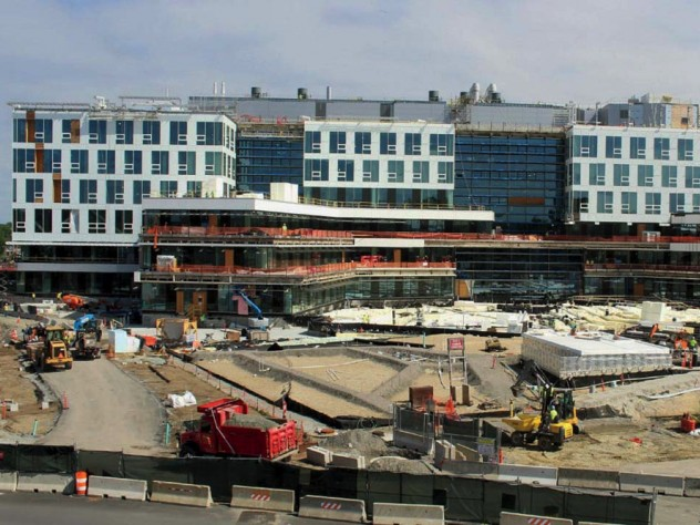 Photograph of Allston science and engineering complex under construction