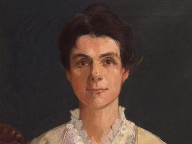 Painted portrait of Adella Hunt Logan