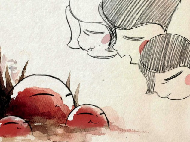 """A still from """"Reneepoptosis"""" by animator Renee Zhang"""