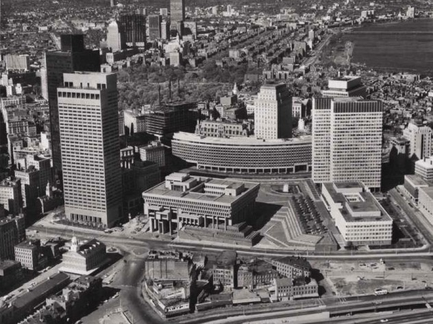 Photograph of redeveloped Boston Government Center, 1971