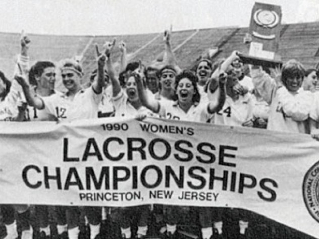 May 20, 1990—The women's lacrosse team comes from behind to win the NCAA championship.