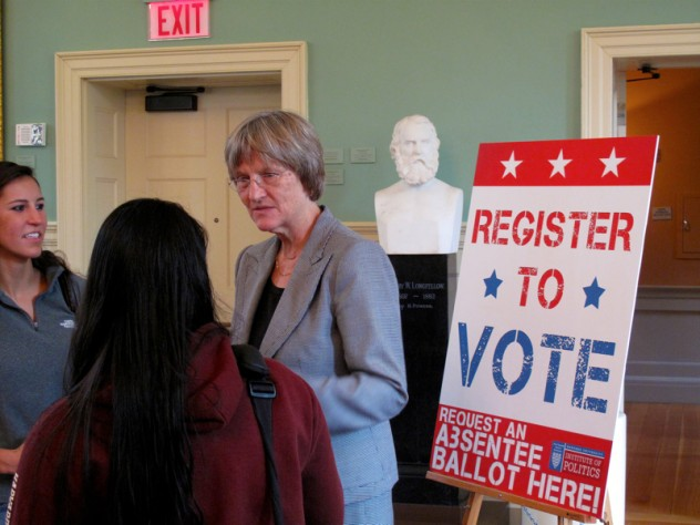 """President Faust likened the program to """"drive-in voting."""""""