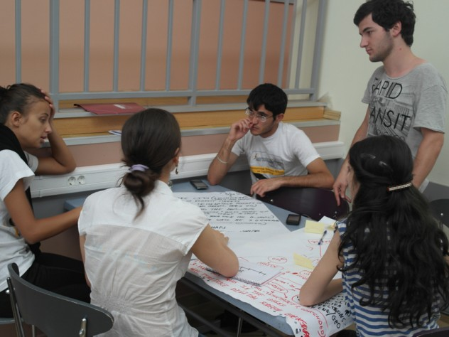 During ISS, students work in teams to find innovative solutions to problems faced by their communities and implement their projects in real life at the end of the program.