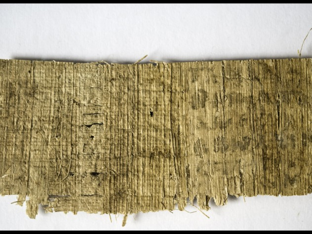 """Although the back of of the papyrus fragment appears blank, infrared photography has revealed the presence of a few words, including """"my mother"""" and """"three."""""""