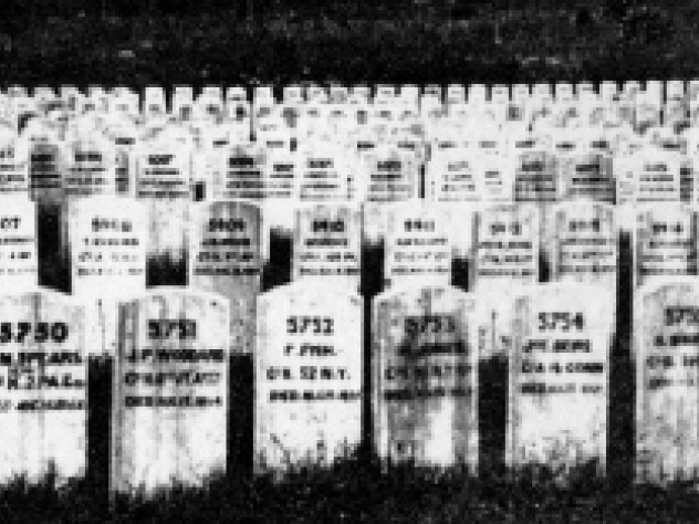 A cemetery for Union prisoners of war, 13,000 of whom died in a brutal prison camp at Andersonville, Georgia.