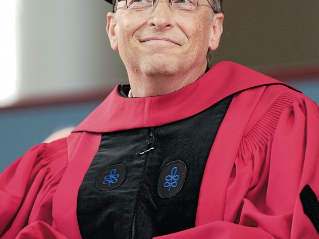 An honorand and the principal guest speaker at the 2007 Commencement exercises, Bill Gates reveled in collecting his Harvard degree—30-plus years after he dropped out of the College.
