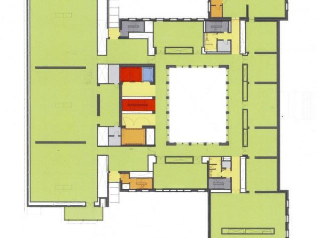 "Level 2 - View <a href=""http://harvardmagazine.com/sites/default/files/img/article/0913/Level2sm.jpg"">larger floor plan</a>"
