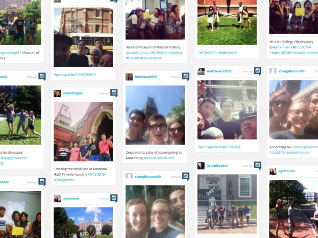 A screen shot of the class of 2018's Instagram Scavenger Hunt posts.