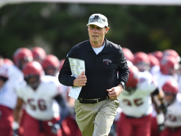 The Brown game was Tim Murphy's 221st on the Crimson sideline--most ever for a Harvard football coach, surpassing the mark of Joe Restic (1971-93).