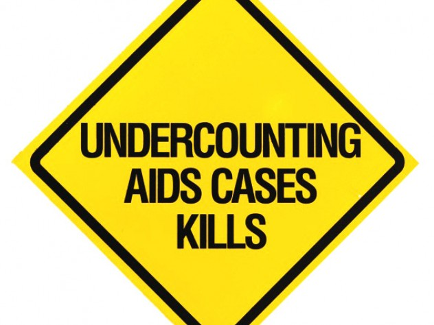 Richard Deagle, <i>Undercounting AIDS Cases Kills,</i> poster, offset lithography, mounted on foam core, undated