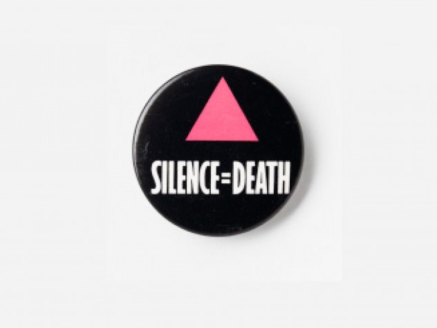 ACT UP, <i>Silence=Death,</i> button, c. 1988