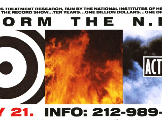 ACT UP, <i>Storm the NIH</i> sticker, May 21, 1990