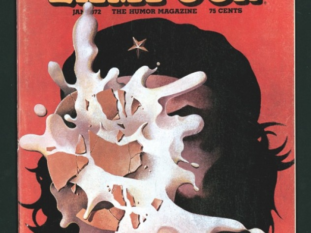 National Lampoon demolished icons of both the Left and Right. Here, a cream pie to Che  Guevara's face on a 1972 cover.