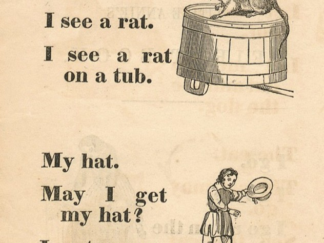 A page from <em>Little Annie's First Book, Chiefly in Words of Three Letters, by Her Mother</em> (1850)
