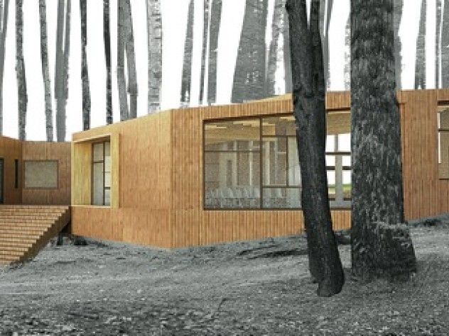 A design for a YMCA health and wellness center, projected to go up at one or more YMCA camps, beginning in 2011