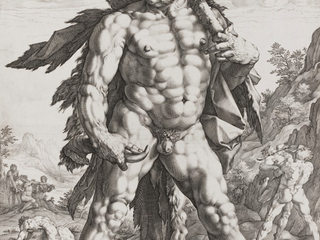 Hendrick Goltzius, <i>The Great Hercules,</i> 1589. Engraving.