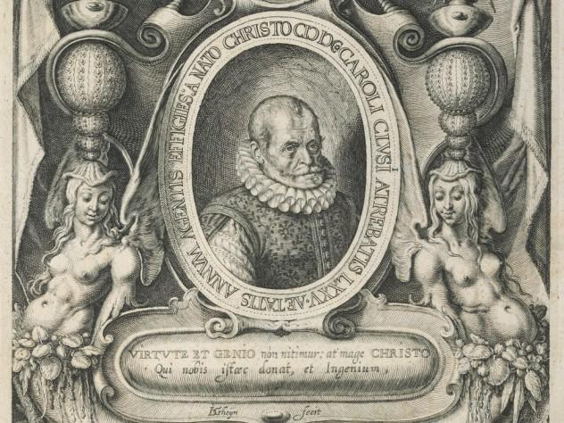 Jacques de Gheyn II, <i>Portrait of Carolus Clusius,</i> 1601. Engraving.