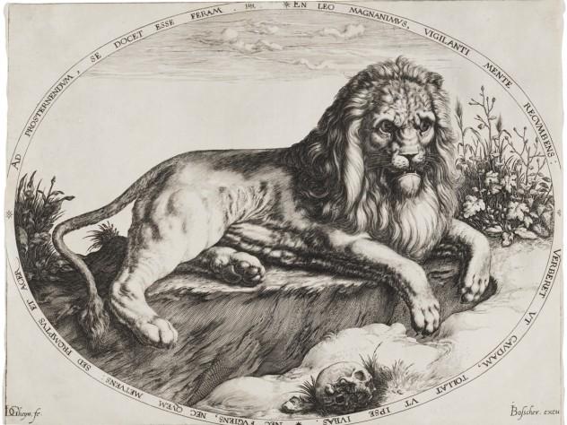 Jacques de Gheyn II, <i>Great Lion,</i> c. 1590. Engraving.