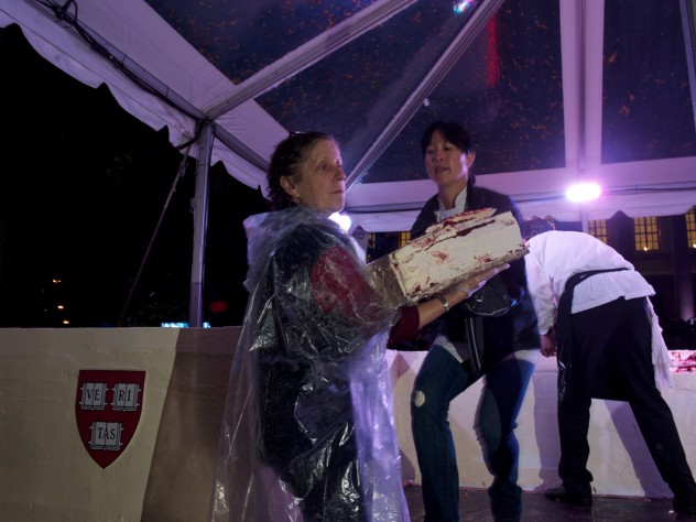 A colossal confection: the red velvet cake created by Joanne Chang '91 of Flour bakery