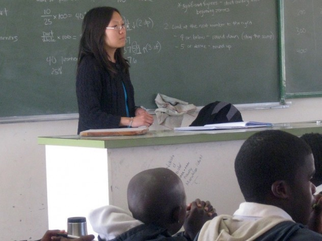 Xue helping her class prepare for exams