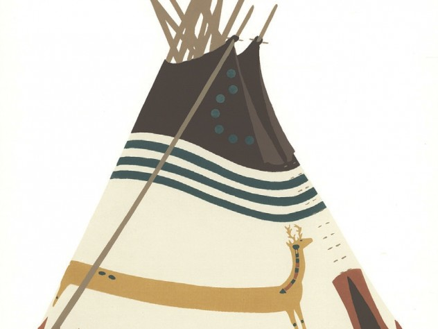 <i>Blackfeet Indian Tipis: Design and Legend, 1976,</i> at the Tozzer Library
