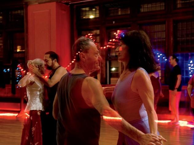 David Kahn happily twirls the night away.