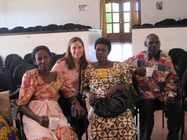Betancourt with members of the caregiver advisory board for her project with HIV-affected children in Rwanda