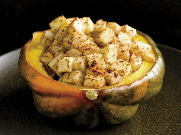 Baked and Loaded Acorn Squash