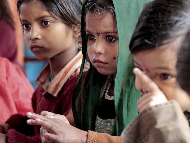 Children at the Mobile Crèches center in Gurgaon