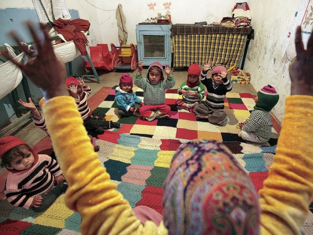 A teaching session at the center