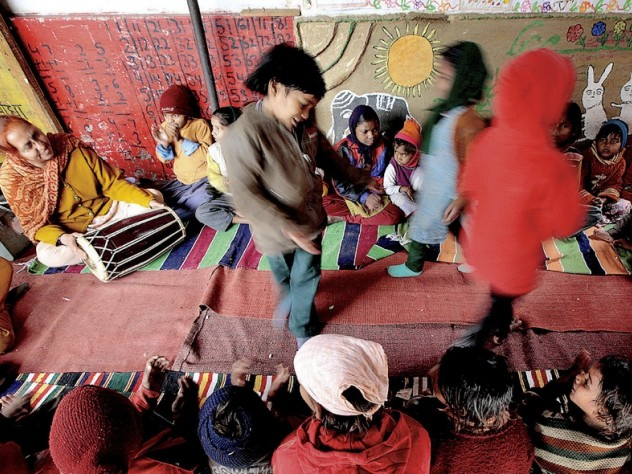 Activities keep the children occupied and engaged.
