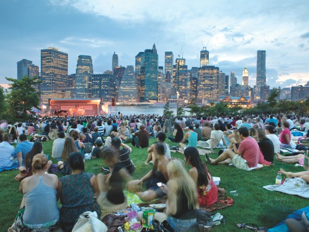 On Pier 1: Brooklyn Bridge Park's harbor-view lawn