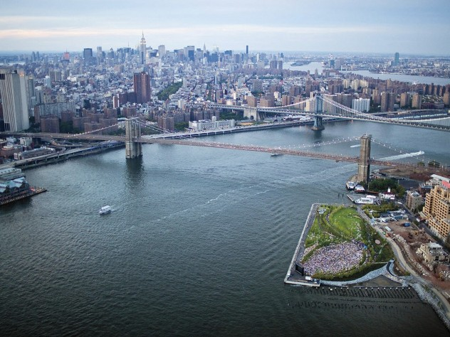 Pier 5: an aerial view of the Brooklyn waterfront as it is being reclaimed