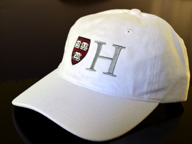 The Harvard Campaign: the headgear. It wouldn't be a campaign without a logo and swag to match.