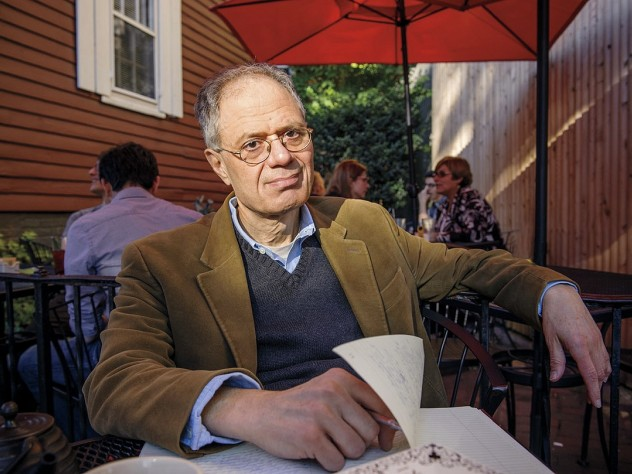 George Scialabba at Café Pamplona in Cambridge