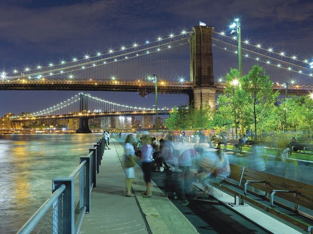 On Pier 1: carefully designed and sited lighting along the water's edge