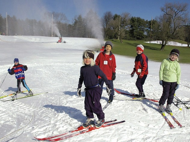 Close to Boston, kids can ski after school at the Weston Ski Track.