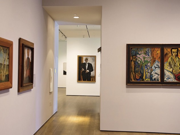 A gallery tracing the origins of expressionism, with Max Beckmann&rsquo;s <i>Self-Portrait in Tuxedo </i>in center background
