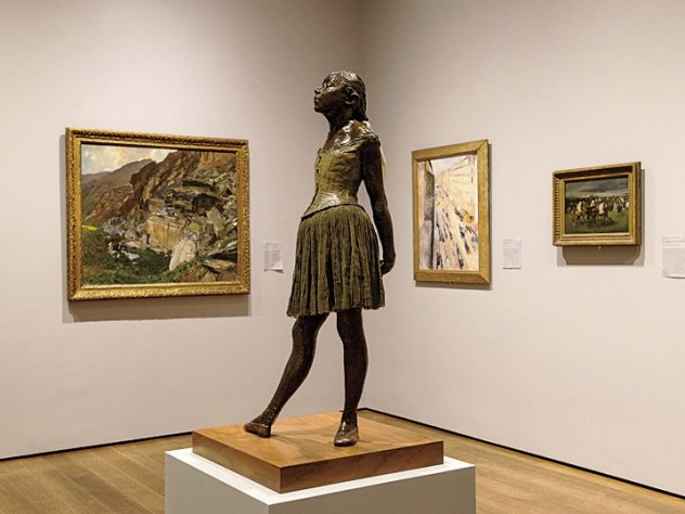 Paintings by Sargent, Munch, and Degas background the latter&rsquo;s <i>Little Dancer</i> in a gallery that shows the international nature of art and collection in the second half of the nineteenth century.