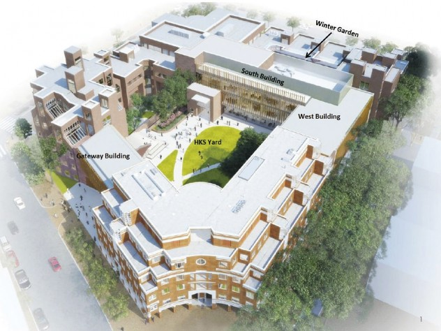 A rendering of the Kennedy School's expanded and reconfigured campus