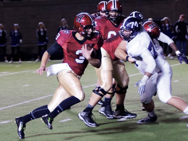 Thrust into action by an injury to starting QB Connor Hempel, untried Scott Hosch filled in admirably against Holy Cross, directing the Crimson to its second touchdown, which he scored on a seven-yard run.