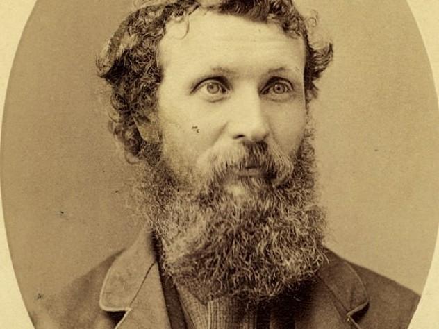 A formal portrait of Muir circa 1875