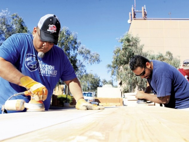 Projects at The Mission Continues include refurbishing buildings.