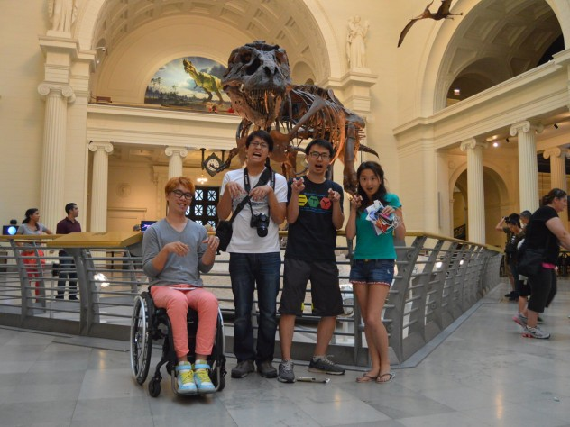 The team visited many famous tourist attractions along the way, including the Field Museum of Natural History in Chicago, pictured here.