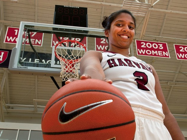 Photo of Harvard women's basketball player Shilpa Tummala