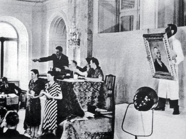 Artworks confiscated from museums were exhibited as objects of ridicule and then sold at auction.