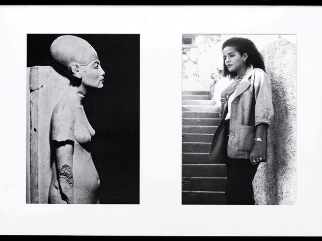A diptych from O'Grady's Miscegenated Family Album series