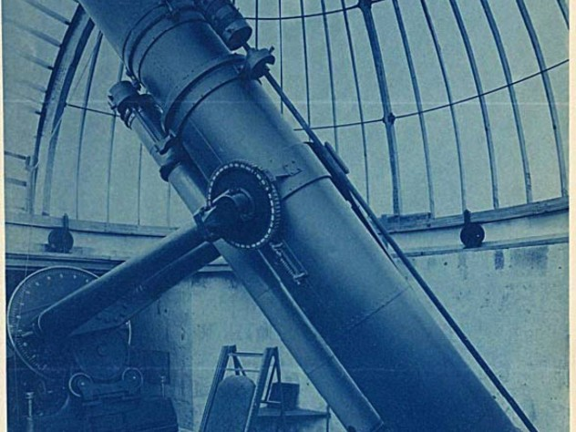 The telescope when in use at Harvard's observatory in Arequipa, Peru