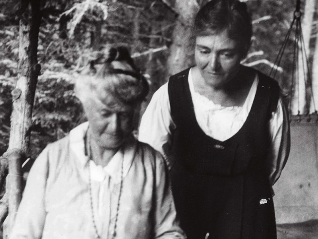 Millicent Todd Bingham looks over her mother's shoulder in this double portrait from 1931.