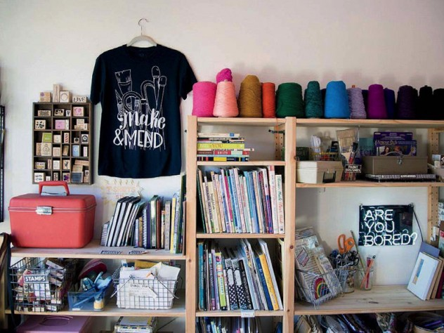 Peruse art-making supplies at Make & Mend.